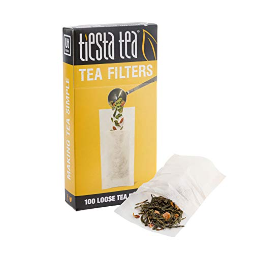 Tiesta Tea | Loose Leaf Tea Filters | 100 Count | Disposable Tea Infuser | 100% Natural Unbleached Paper | Steeps Tea and Coffee | Eco-Friendly | Single Serve Filter for a Cup of Tea, Yellow