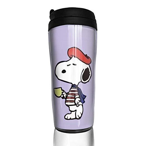 Snoopy mit Hut Kaffeebecher Travel Mug Thermobecher Isolierbecher Doppelwandig Isolierung Kaffeetasse