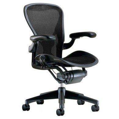 Herman Miller Classic Aeron Task Chair: Tilt Limiter w/Seat Angle Adj - PostureFit Support - Fully...