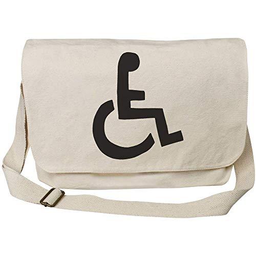 Azeeda 'Rollstuhl-Symbol' Baumwolle Umhängetasche (MS00023455)