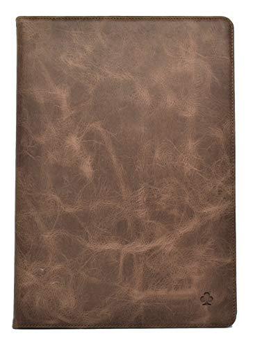 Porter Riley - Funda de piel para iPad Air de 4ª generación de 11 pulgadas 2020 con función atril y tapa (marrón chocolate)