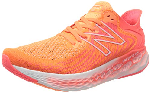 New Balance Women's Fresh Foam 1080 V11 Running Shoe, Citrus Punch/Vivid Coral, 11 Wide