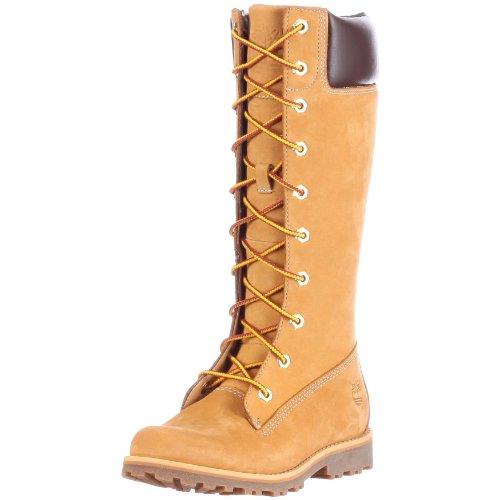 Timberland Kids Classic Tall Lace-Up Stiefel, Braun (Wheat Nubuck), 38 EU
