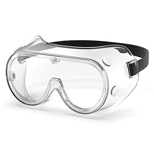 Gafas de seguridad antivaho con marco suave, protección de ojos con 4 rejillas de ventilación para el lugar de trabajo, lijado, DIY EN 166 y Z87