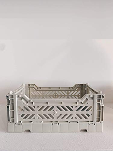 HAY Colour Crate S Transportbox, Kunststoff, hellgrau, 26,5cm