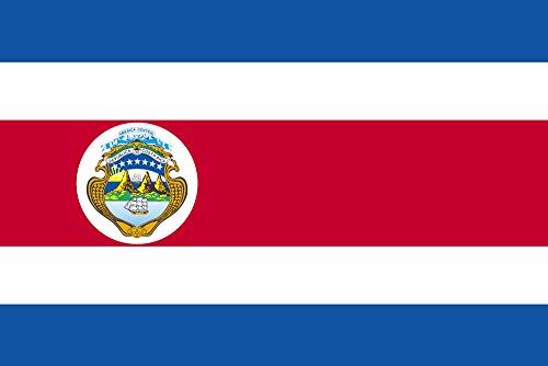 世界の国旗 コスタリカ[紋章入] 国旗 [140×210cm 高級テトロン製]