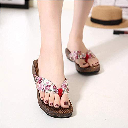 Antiscivolo Bagno Slipper Infradito da donna, zoccoli pantofole, zoccoli infradito sandali-rosa altezza 2.5CM_37, Casa mulo molle schiume fangkai77