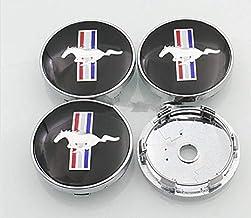 JXHDKJ 4pcs W199 60mm Car Emblem Badge Wheel Hub Caps Centre Cover Black for Ford Mustang Cobra Jet Shelby