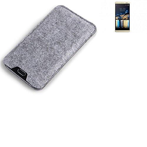 K-S-Trade® Filz Schutz Hülle Für Switel Champ S5003D Schutzhülle Filztasche Filz Tasche Case Sleeve Handyhülle Filzhülle Grau