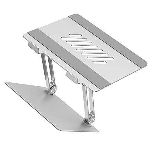 OSALADI Multipurpose Laptop Rack Aluminium Alloy Computer Stand Hollow Laptop Shelf