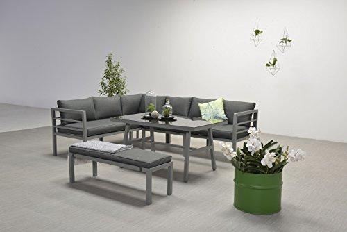 Garden Impressions Hohe Dinning Aluminium Lounge Blakes Anthrazit, inklusive XL Bank und wasserabweisender Kissen