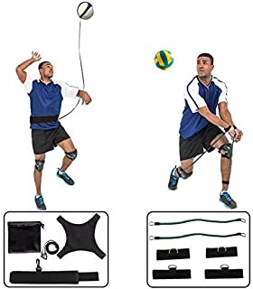 HoDrme 2 Sets of Volleyball Training Aid-Volleyball Rebounder & Resistance Band-Great Trainer for Solo Practice of Serving...