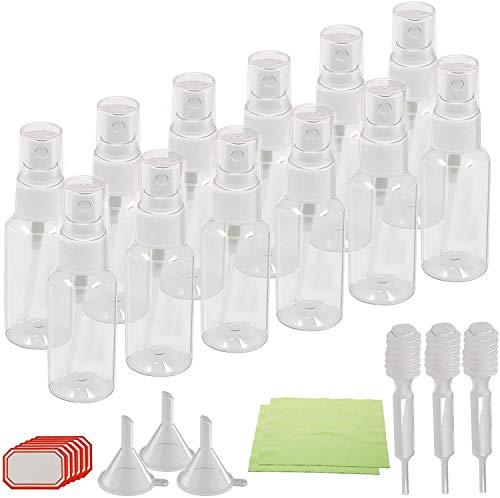 Beauty Lot de 12 vaporisateurs de parfum en plastique transparent 30 ml