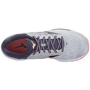 Mizuno Women's Wave Rider 21 Running Shoe Athletic Shoe, high rise/gray stone, 12 US