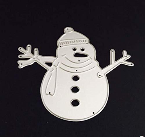 RKZM Mooie sneeuwman-uitsnijding sjablonen-papier-reliëfmes-vorm DIY kaartenalbum handgemaakte kubus voor het maken van kaarten
