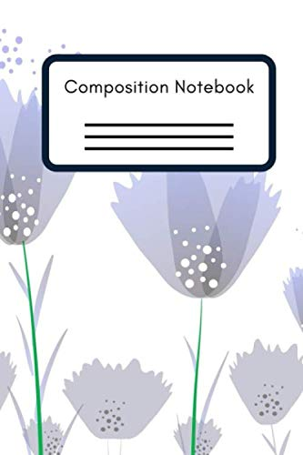 Composition Notebook: Lilac Flowers Notebook 120 pages wide ruled college Journal, 6 x 9 in