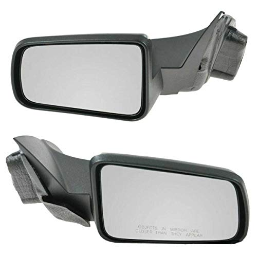 AutoShack KAPFO1320318PR Pair of 2 Left Driver and Right Passenger Power Paint to Match Smooth Non-Heated Non-Folding Side View Mirrors Replacement for 2008-2011 Ford Focus 2.0L 2.5L