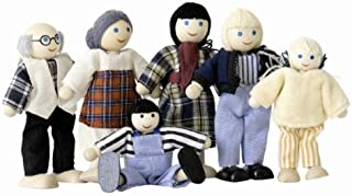 woodyland Pretend Play Farm Family Dolls for Doll House (6-Piece)