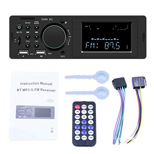 B Baosity 87.5-108M Radio Coche Autoradio Bluetooth Reproductor MP3 de Coche Radio MP3 USB Estéreo para Vehículo