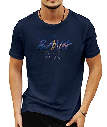 Wild Soul Tees - Camiseta para hombre, diseño de la capital de Bangkok de Tailandia Azul azul XXL