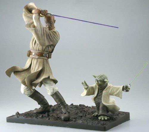 Star Wars Mace Windu & Yoda 30cm ArtFX Statue