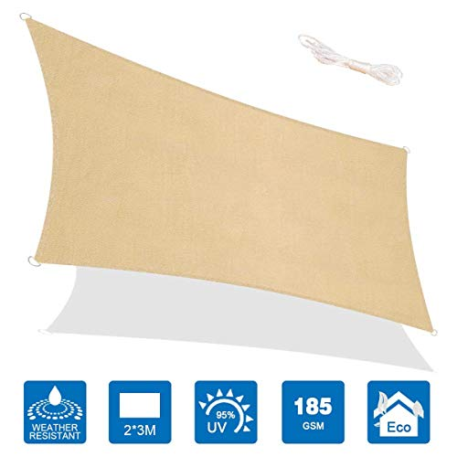 Sombrilla solar HOODIE, impermeable, parasol de techo, toldo de jardín, hecha de poliéster de alta calidad, efecto protector solar, resistente al polvo y al viento., 10'x13'
