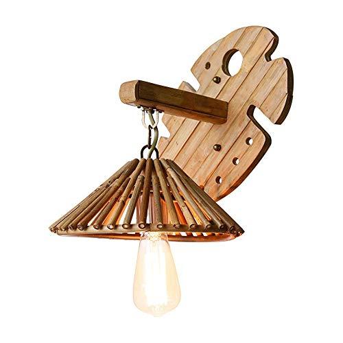 Lyuez Zuidoost-Aziatische antieke E27 wandlamp creatieve bamboe plant boerderij wandlamp restaurant hotel inn muur lamp personeel industriële wandlamp eenvoudige kunst bamboe wandlamp
