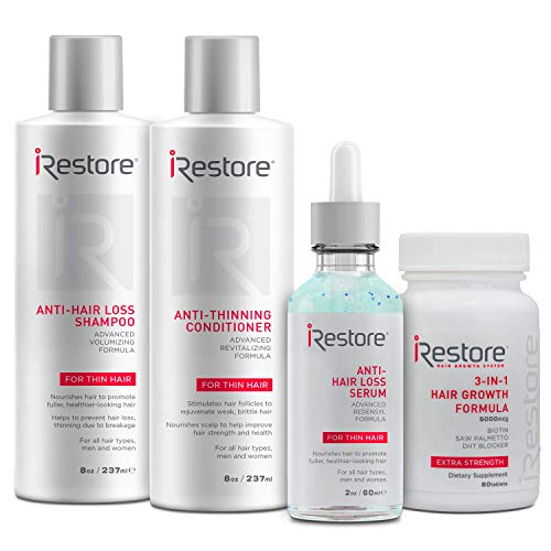 SaIe: iRestore Max Growth Bundle includes the 3-in-1 Hair Growth Supplement, Anti-Hair Loss Serum,...