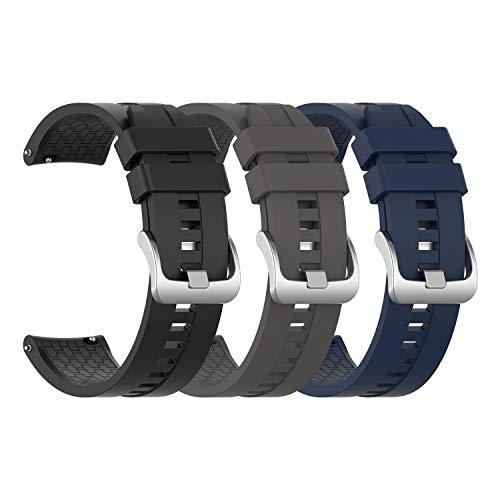 EEweca 3-Pack Silicone Bands for Huawei Watch GT Classic Replacement...