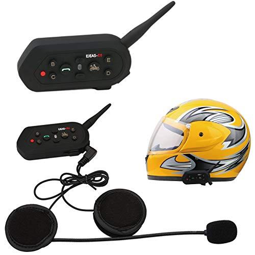 ESTGOUK E6 1200m Casco de la Motocicleta Intercomunicador de Bluetooth con el Cable de la conversión de K el Mejor para la Vespa y el Motorista(2 Piezas)