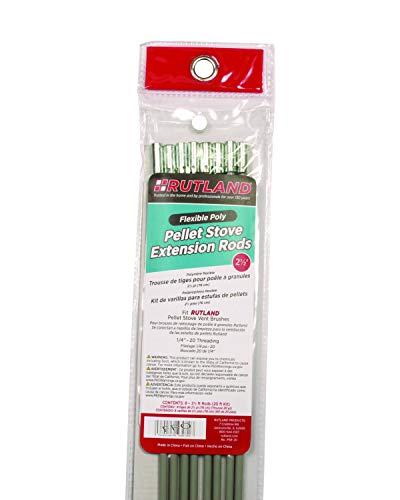 Rutland Productos Estufa de pellets Brush Kit de Barra de extensión, Gris, 20 m