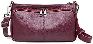 CSG New Fashion Simple Multi-function Large Capacity Shoulder Bag Shoulder Slung Leather Handbag durable (Color : Blue) waterproof