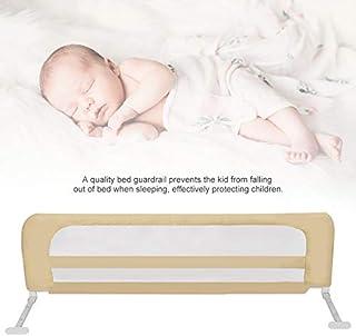 Barrera de cama, 150/180/200 cm, barrera de cama ajustable, rejilla de protección, barandilla de seguridad, protección anti-caídas, de 3 a 8 alturas ajustables beige Talla:1 m