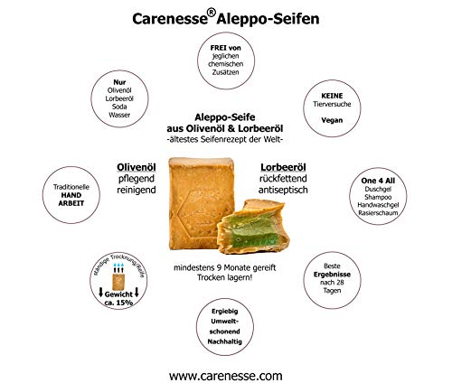 Seife mit ca. 60% Olivenöl, 40% Lorbeeröl - handgeschnitten, vegan, Naturprodukt Abbildung 3