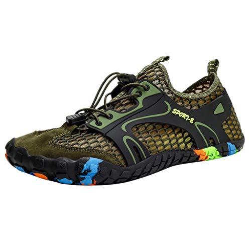 Fitzac Traillaufschuhe Damen Mode Paar Mesh Hollow Atmungsaktiv Bergsteigen Upstream Schuhe Sneakers Mädchen Schulschuhe 35-47, grün, 41