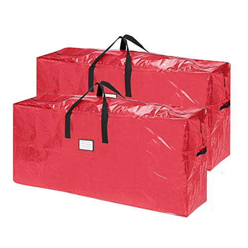 Elf Stor 83-DT5517 2-Pack | Christmas Bag | Extra Large for up to 9 Ft Tree | Red, 2 Count