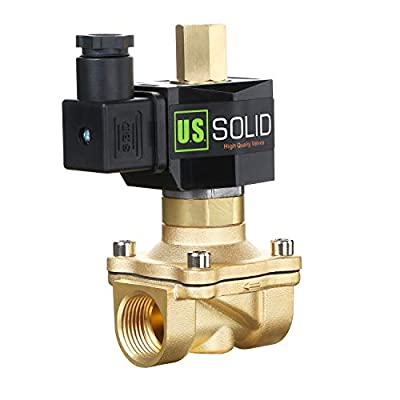 """3/4"""" Brass Electric Solenoid Valve 110V AC NPT Normally Open Air Gas Water Viton by U.S. Solid"""