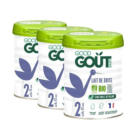 Good Goût - BIO - Lait Infantile en poudre 2ème Âge 800 g de 6 à 12 Mois - lot de 3