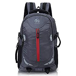 HEROZ Harbour Unisex Nylon 28 L Travel Laptop Backpack Water Resistant Slim Durable Fits Up to 17.3 Inch Laptop Notebook (153-ALL) (Gray),A. H. Creation,0153