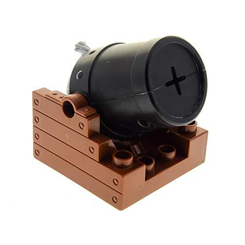 LEGO 1 x Duplo Kanone Halter Reddish rot braun 4x4 Kanonen Rohr schwarz Set Piraten Boot Schiff Ritter Burg Zirkus 4864 7881 54848c01 54849