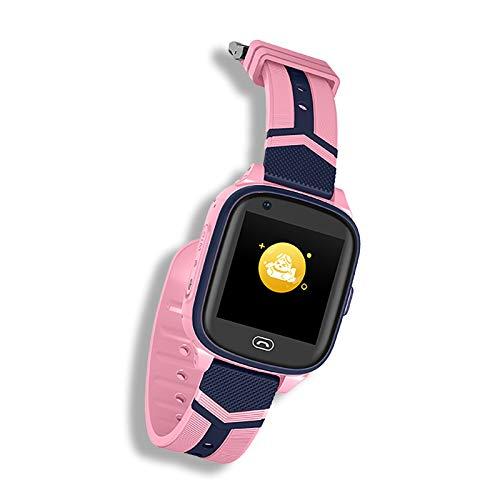 DUANQI GPS Kinder Smart Watch Telefon, Touchscreen Kinder, Smartwatch mit Anruf Sprachnachricht, SOS, Voice Chat, Wecker, Geschenk für Kinder Junge Mädchen Student,Rosa
