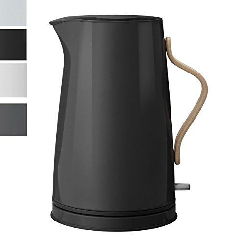 Stelton EMMA Wasserkocher 1,2 L - schwarz + Edelstahlstyling Universalmesser im Set (schwarz)