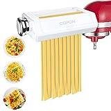 Accesorio para pasta para KitchenAid batidora de pie, máquina de pasta 3 en 1 Accesorios, rodillo...