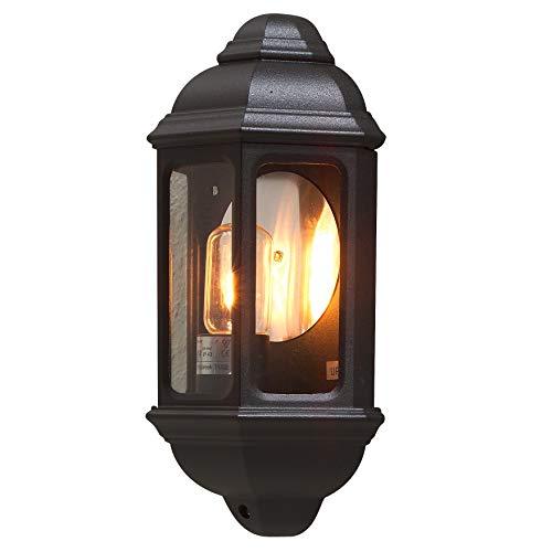 Konstsmide Cagliari 7011-750 wandlamp/B: 18cm D: 10cm H: 36cm / 1x100W / IP43 / gelakt aluminium/matzwart