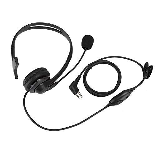 2-in-1-Mikrofon + Headset für Walkie-Talkie-Funkgeräte, einseitiges Headset-Mikrofon für Motorola MAG ONE A8 CP1660 GP-88 HYT