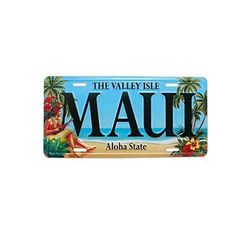Maui Souvenir License Plate - Vintage Hawaii