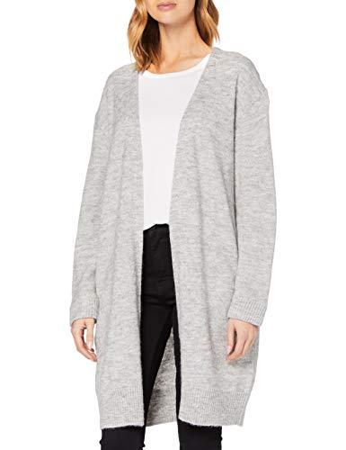 Superdry Womens Alpaca Blend Cardigan Sweater, Light Grey Marl, M (Herstellergröße:12)