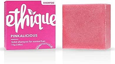Ethique Shampoo Bar for Normal Hair, Pinkalicious - Sustainable Shampoo with Grapefruit & Vanilla, pH Balanced, 100% Soap Free, Vegan, Plant Based, Eco-Friendly 100% Compostable and Zero Waste, 3.88oz