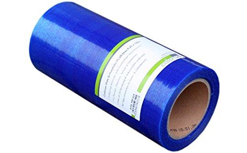 Colorus Premium Glasschutzfolie 25 cm x 100 m | Fensterschutzfolie selbstklebend blau 50 my | Oberflächenschutzfolie selbsthaftend | Selbstklebende PE-Folie UV beständig | Malerschutzfolie