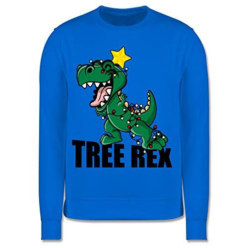 Shirtracer Weihnachten Kind - Tree Rex - 128 (7/8 Jahre) - Himmelblau - Tree rex - JH030K - Kinder Pullover